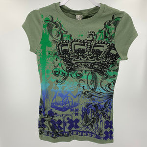 Ransom Glitter Embellished Graphic T-Shirt